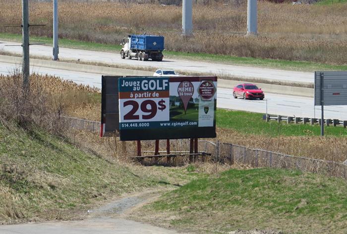 Panneau publicitaire OAIQ autoroute 4